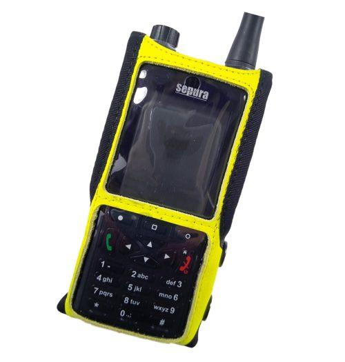 Sepura SC2120 M1 Radio Case Hi Vis Yellow front