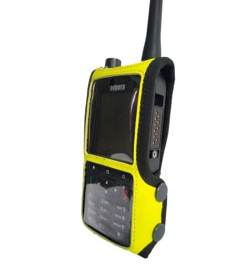 Sepura SC2120 M1 Radio Case Hi Vis Yellow side1
