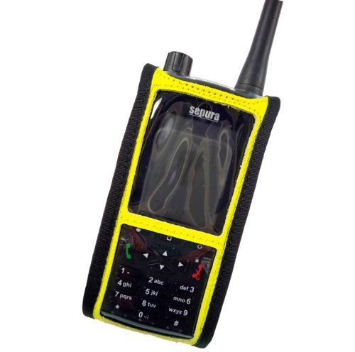 Sepura SC2120 M2 Radio Case Hi Vis Yellow front