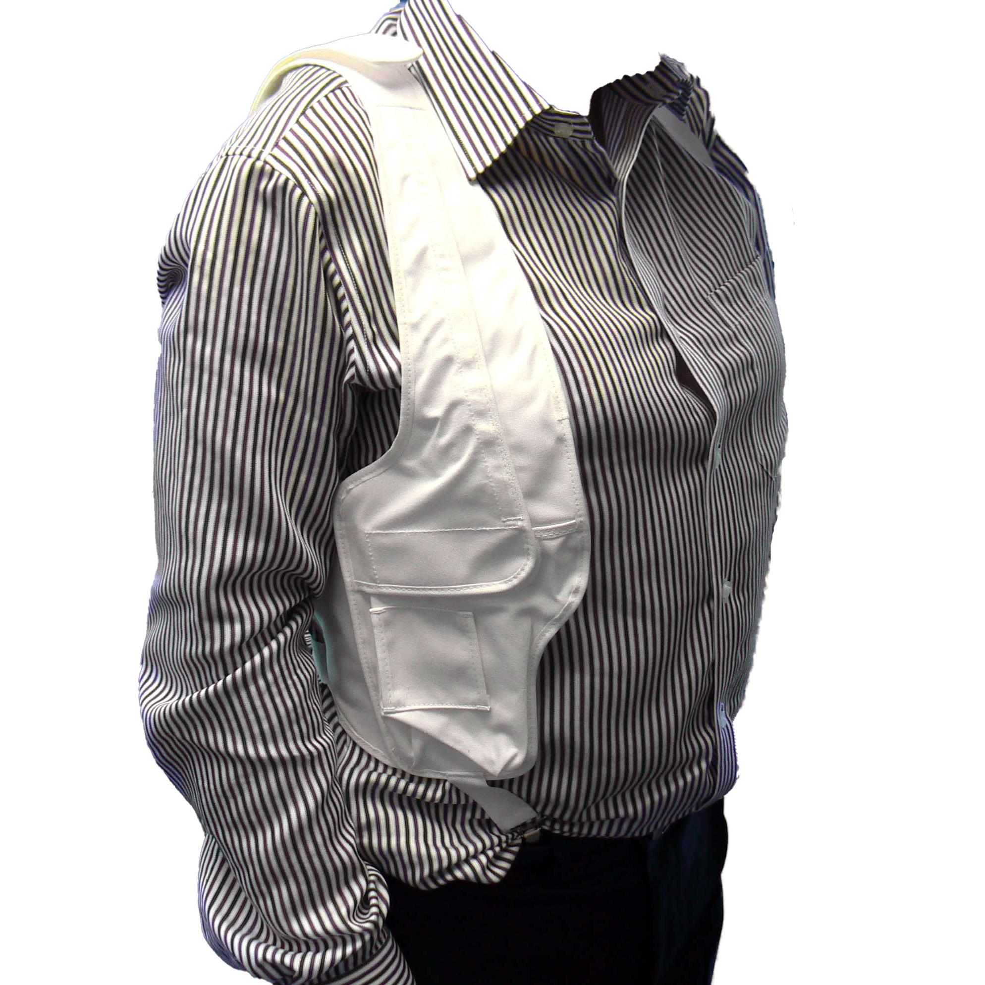 Shoulder harness covert radio harness