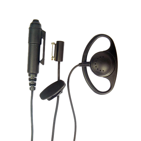D-Shape earpiece PTT and Microphone