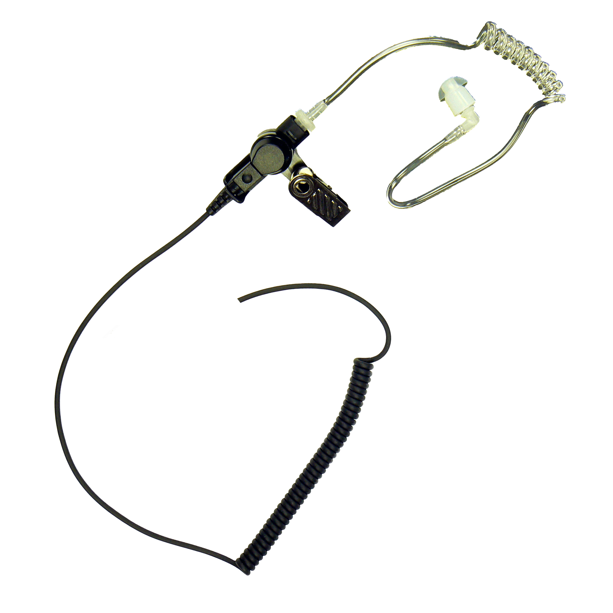 Acoustic tube listen-only earpiece