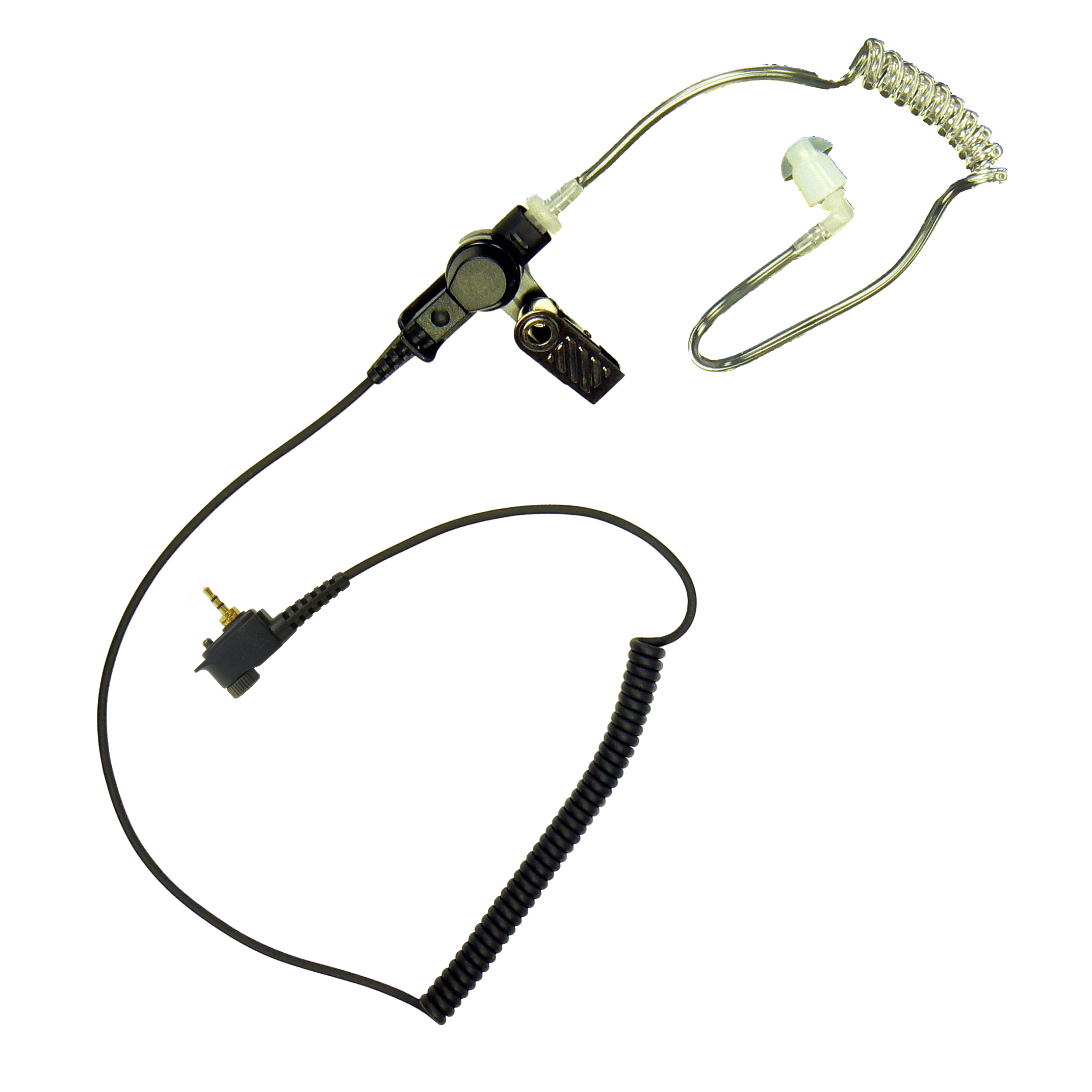 Listen only earpiece acoustic tube for Motorola Tetra Radio