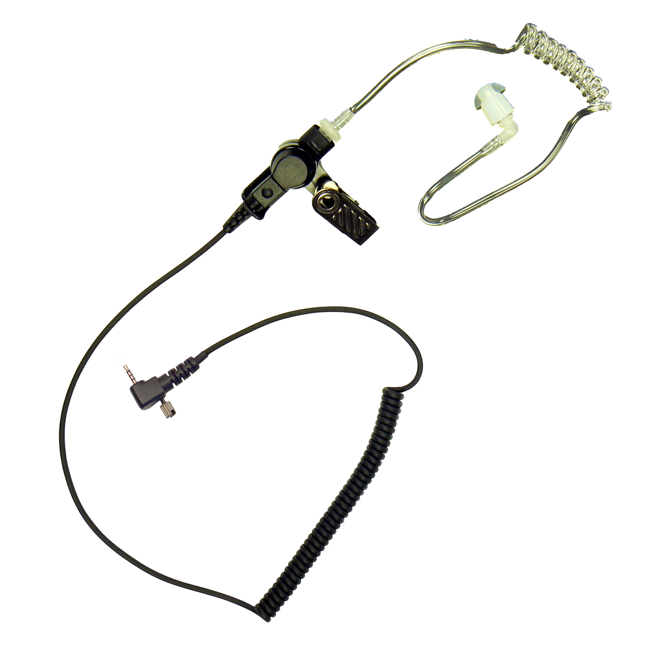 Acoustic tube Sepura radio earpiece with Single pin and screw jack