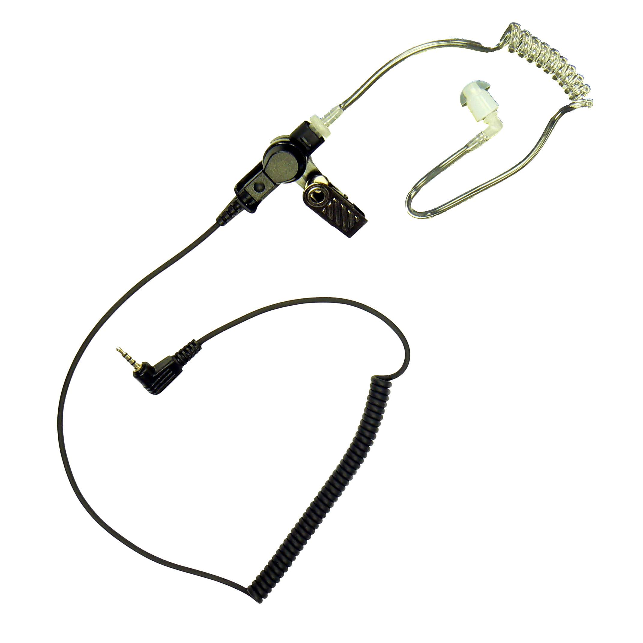 Listen only earpiece acoustic tube for Sepura Tetra Radio