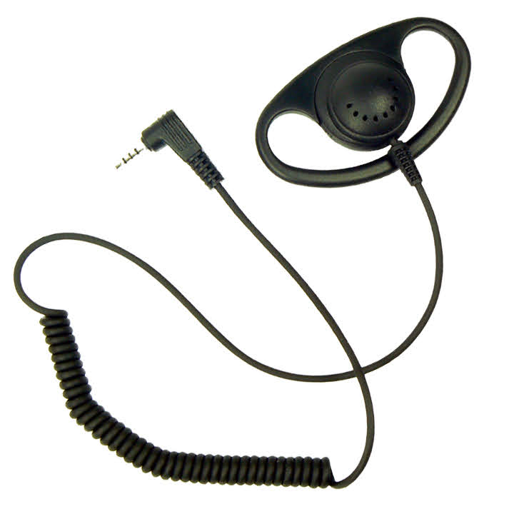 D-Shape earpiece listen-only Sepura