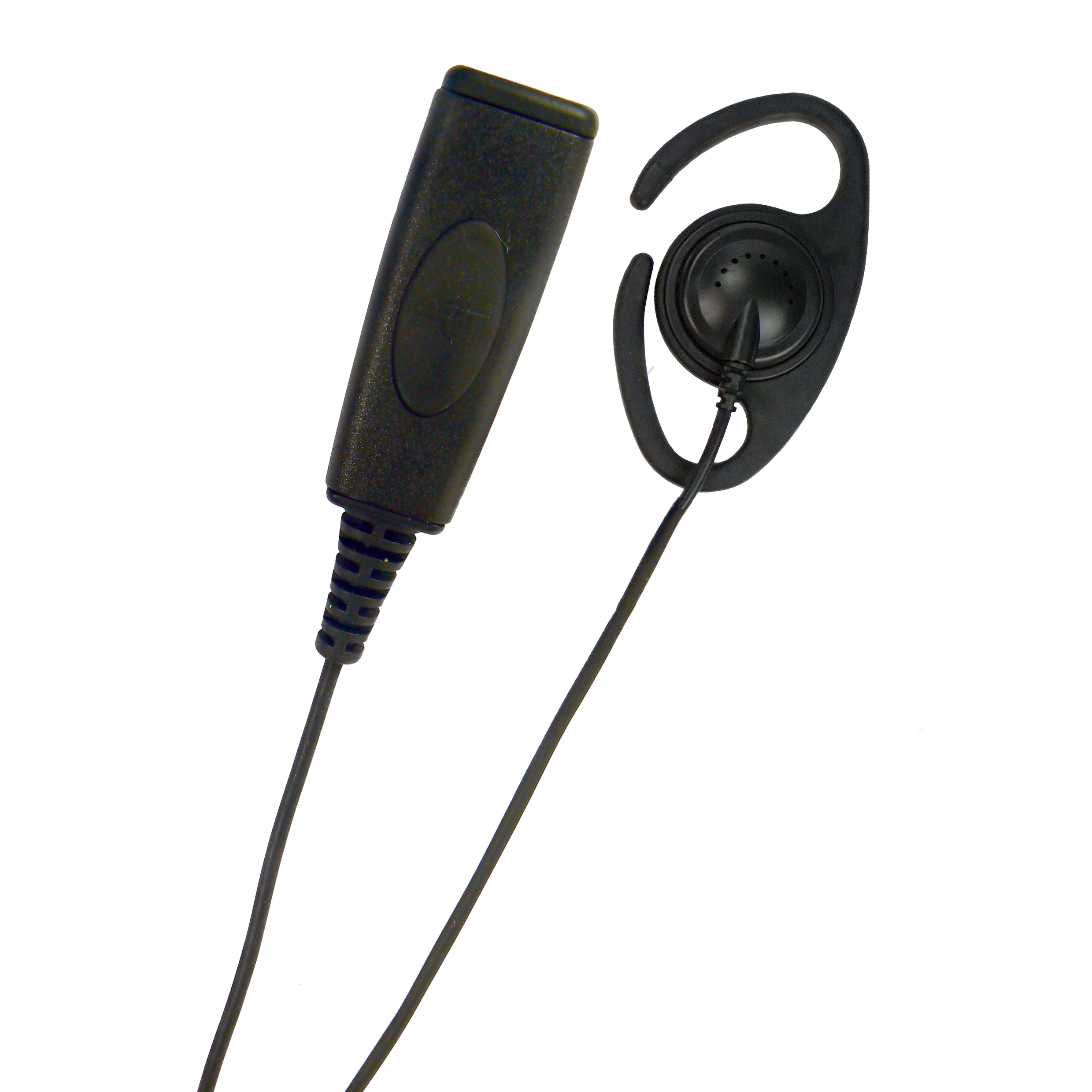 D-Shape Radio earpiece PTT