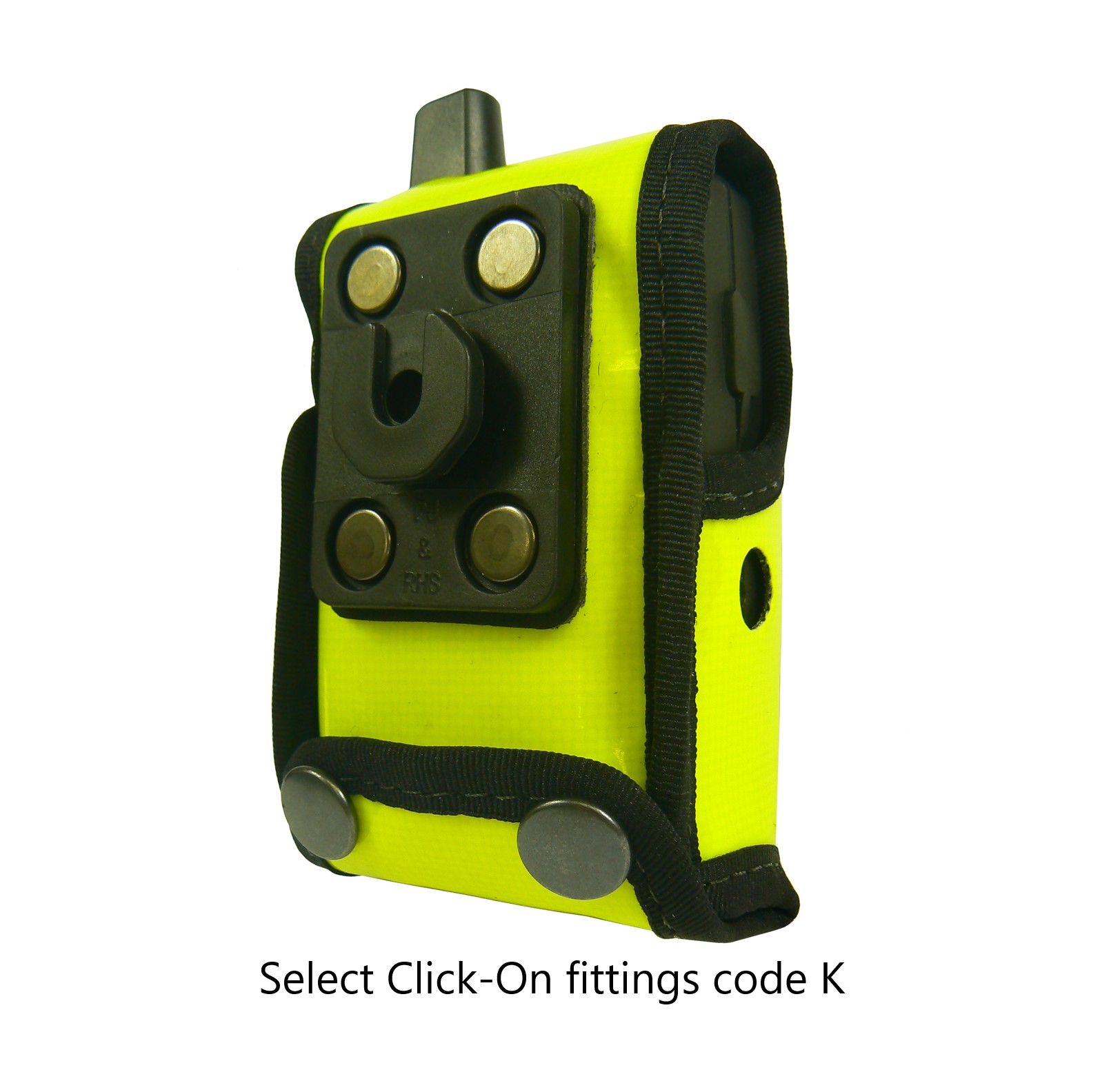 Oelmann Viper Pager Case Hi-Vis Yellow with Click-On