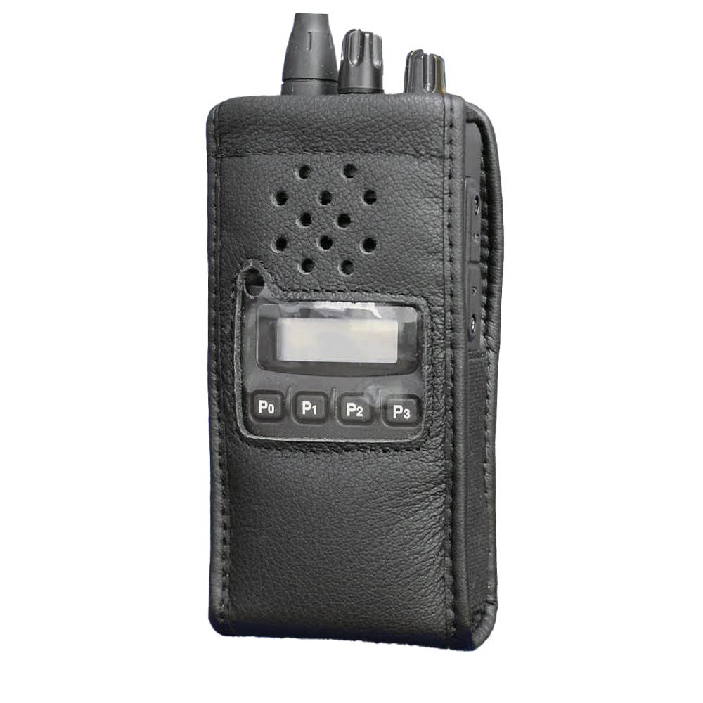 Soft leather radio case for Icom IC-F43GS