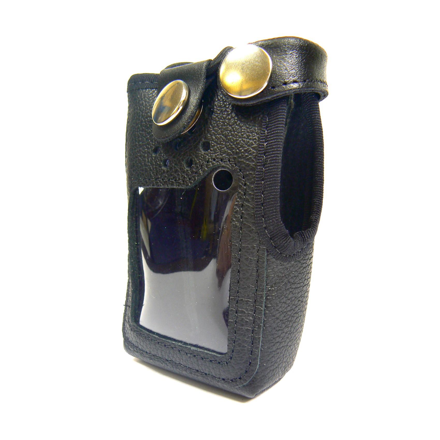 Icom M87 Radio Case Leather with clip