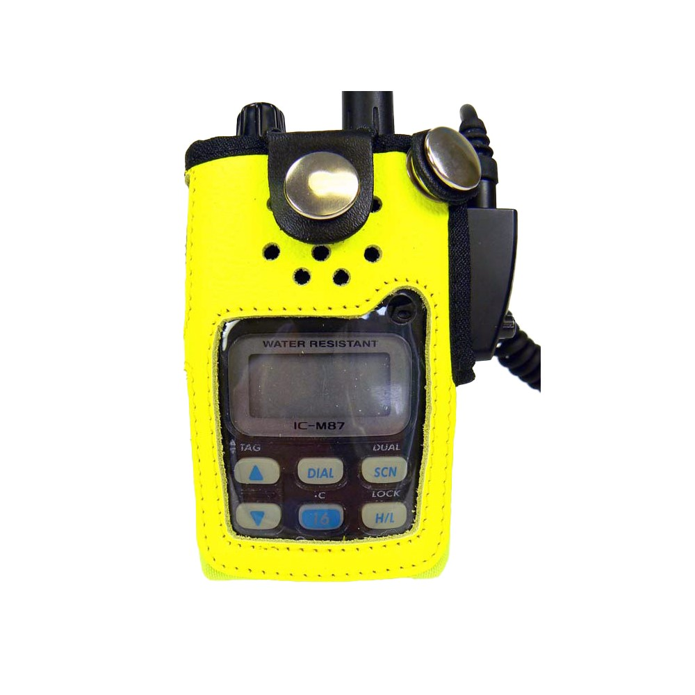 Icom M87 Radio Case Hi-Vis Yellow Leather