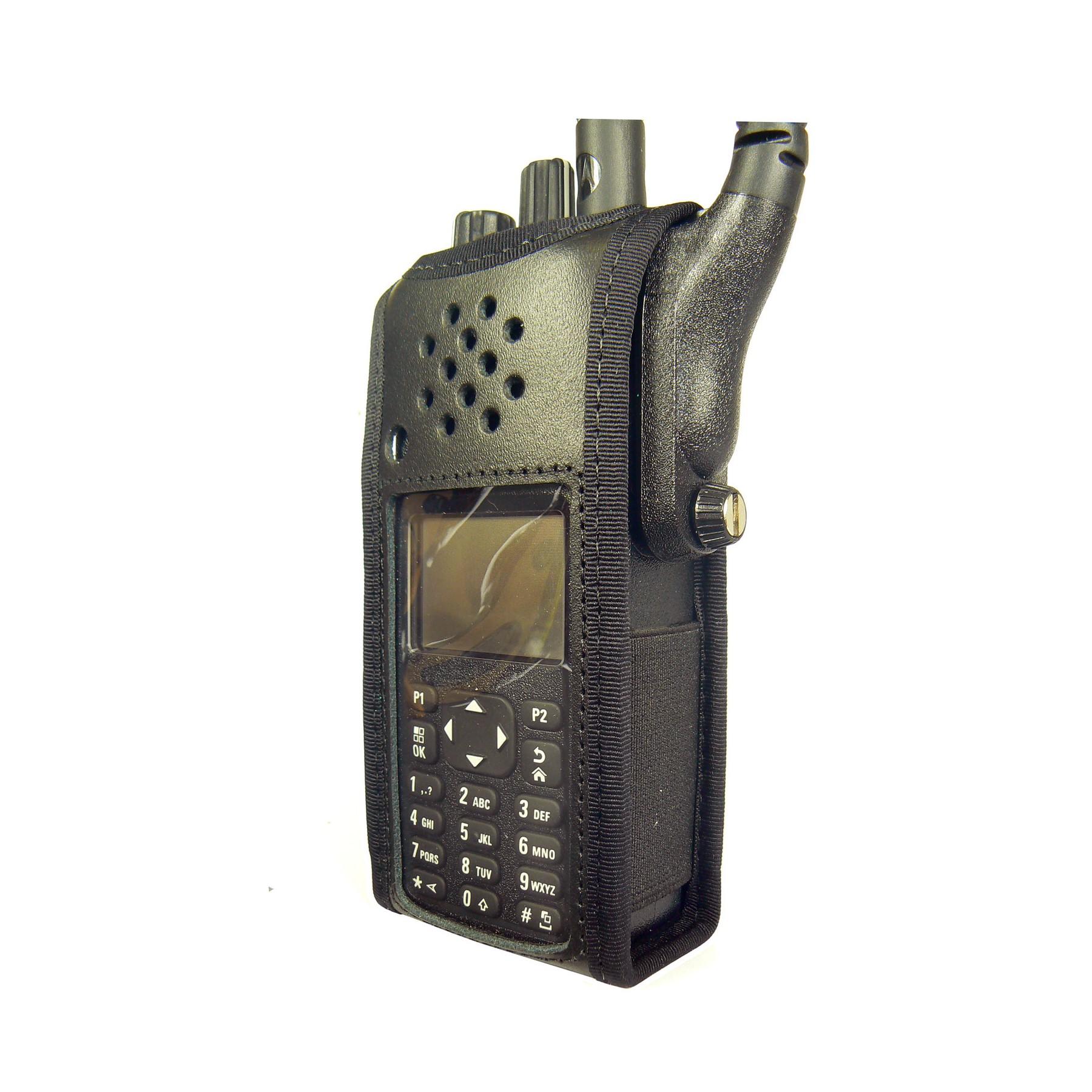 Motorola DP4801 Radio Case Leather Black