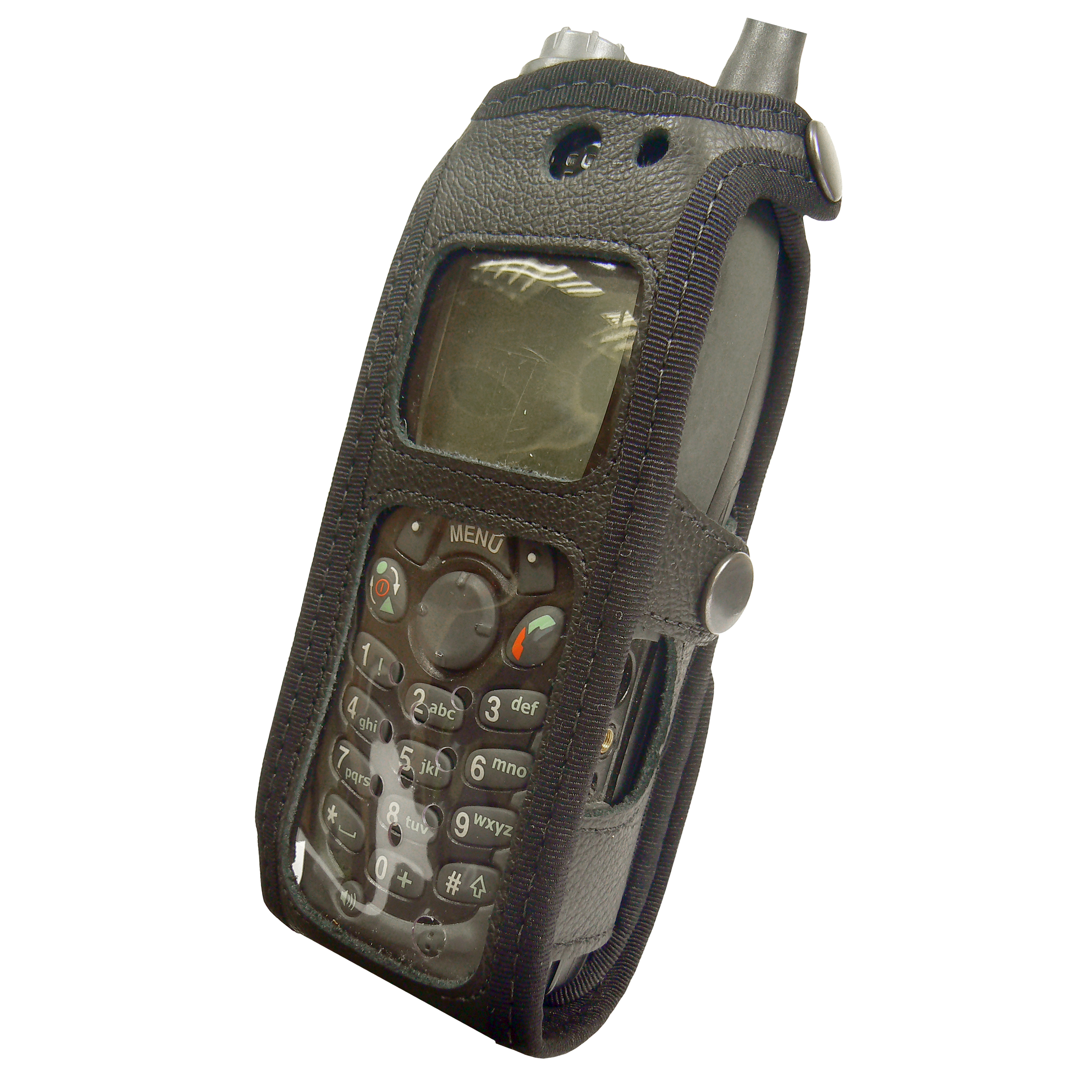 Motorola MTH650 Tetra Radio Case Leather with Click-On