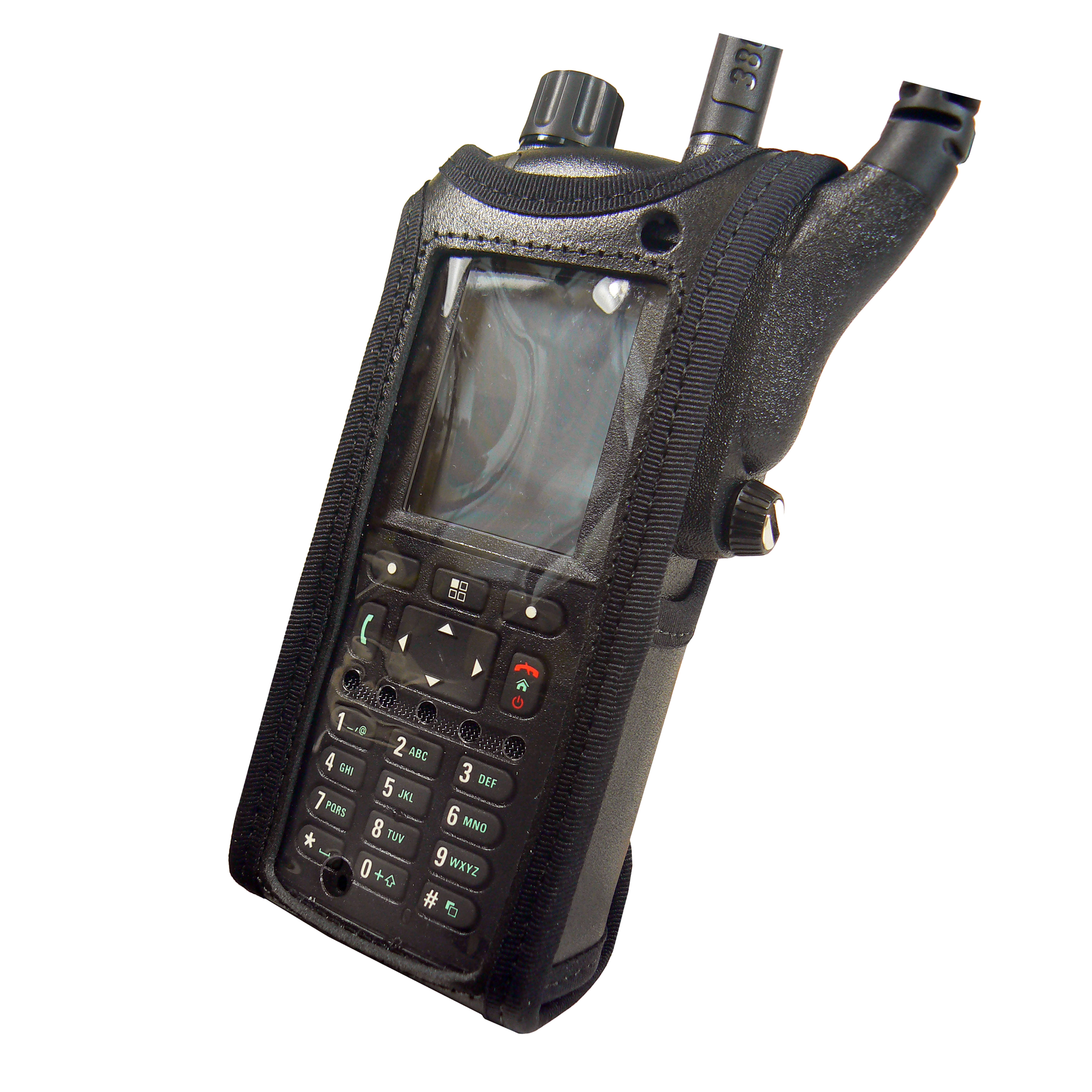 Motorola MTP6550 Tetra leather radio case with Click-On