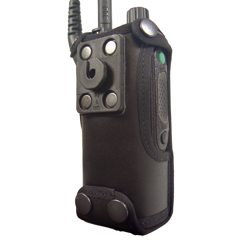 Motorola MTP6550 Tetra leather radio case with Click-On