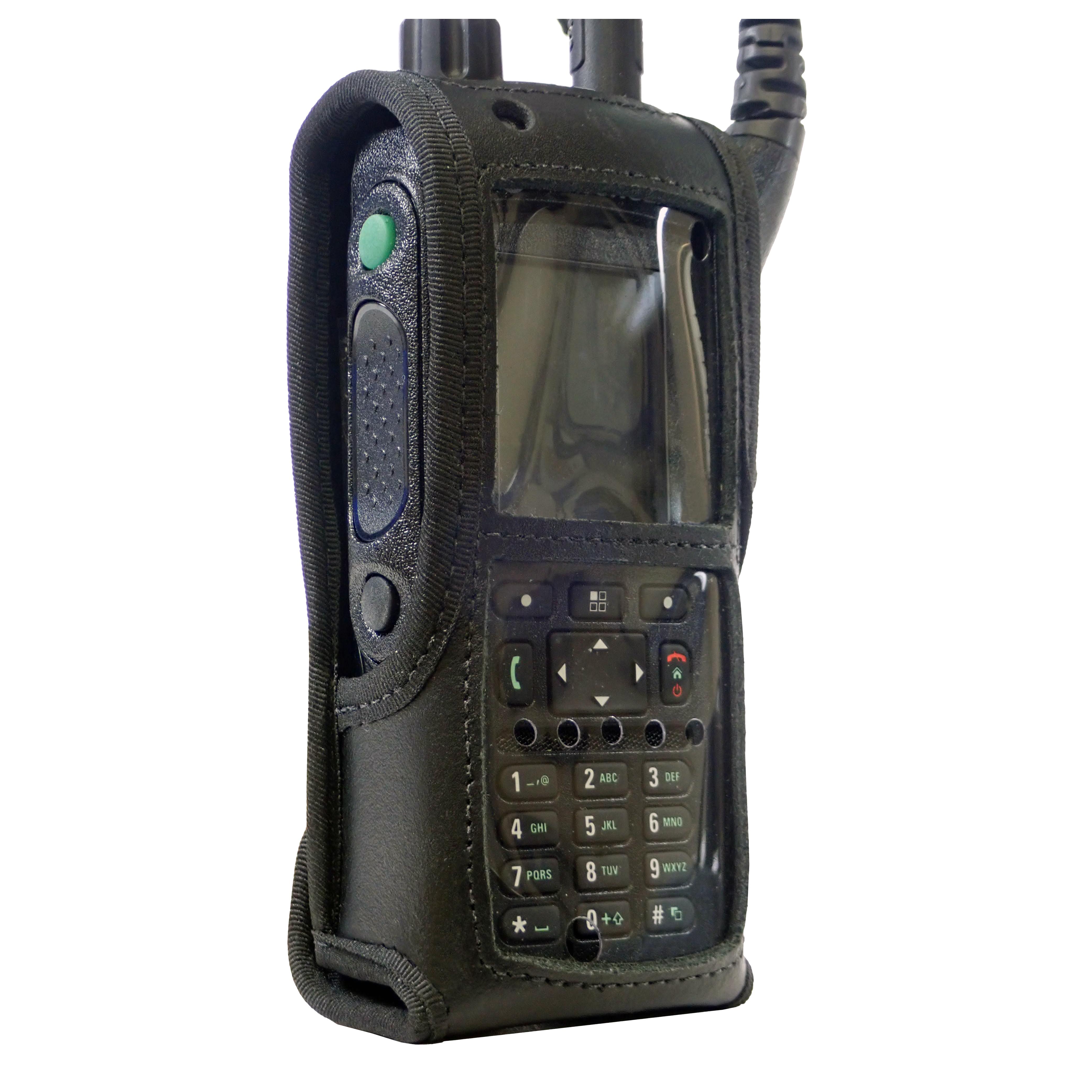 Leather Radio case Motorola MTP6550