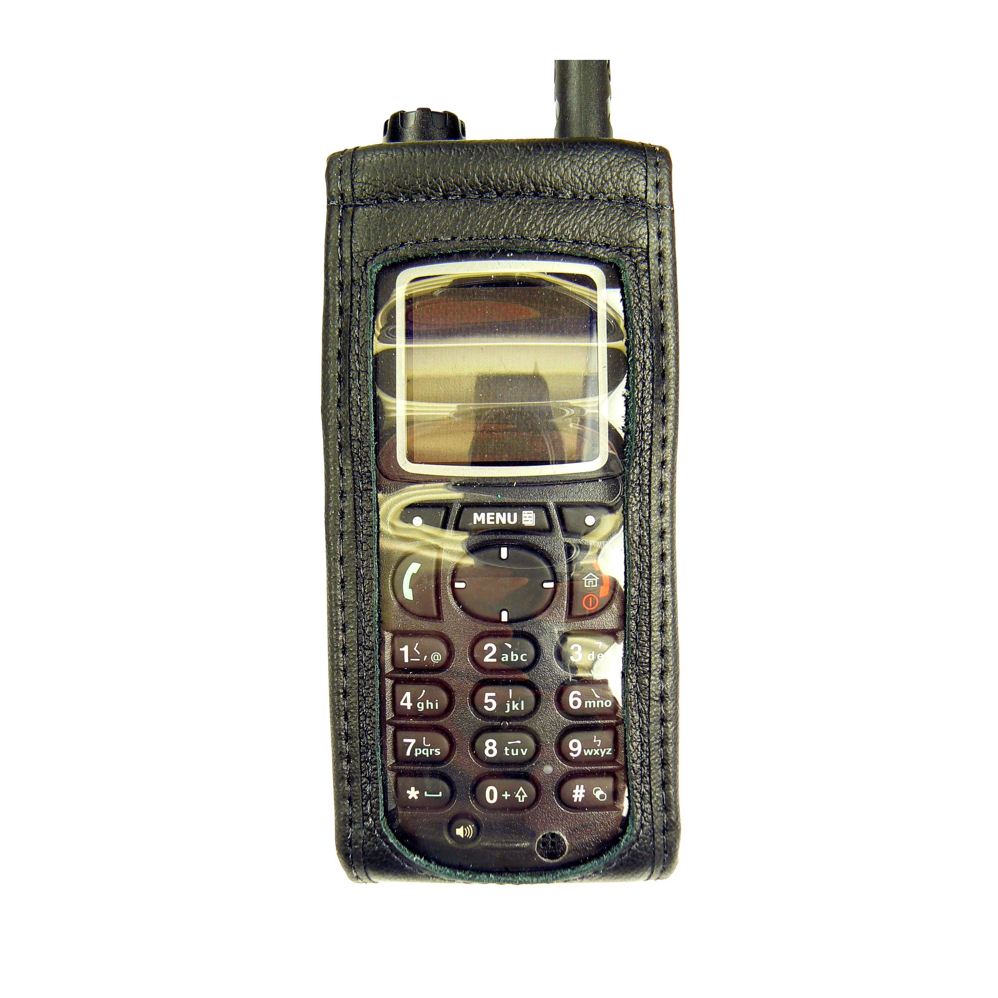 Motorola MTP850 leather radio case with Click-On