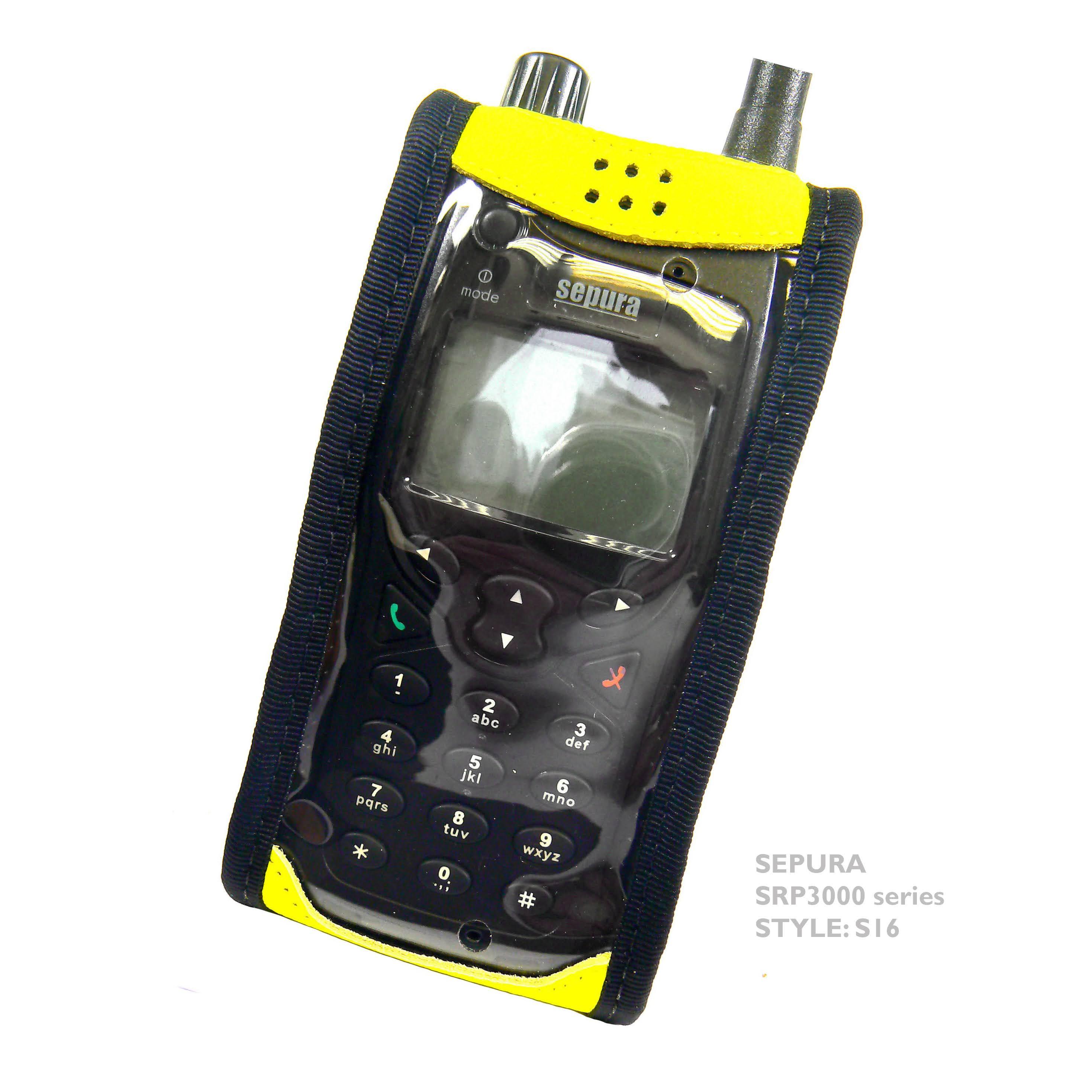Sepura SRP3000 S16 Hi-Vis radio case with Click-On