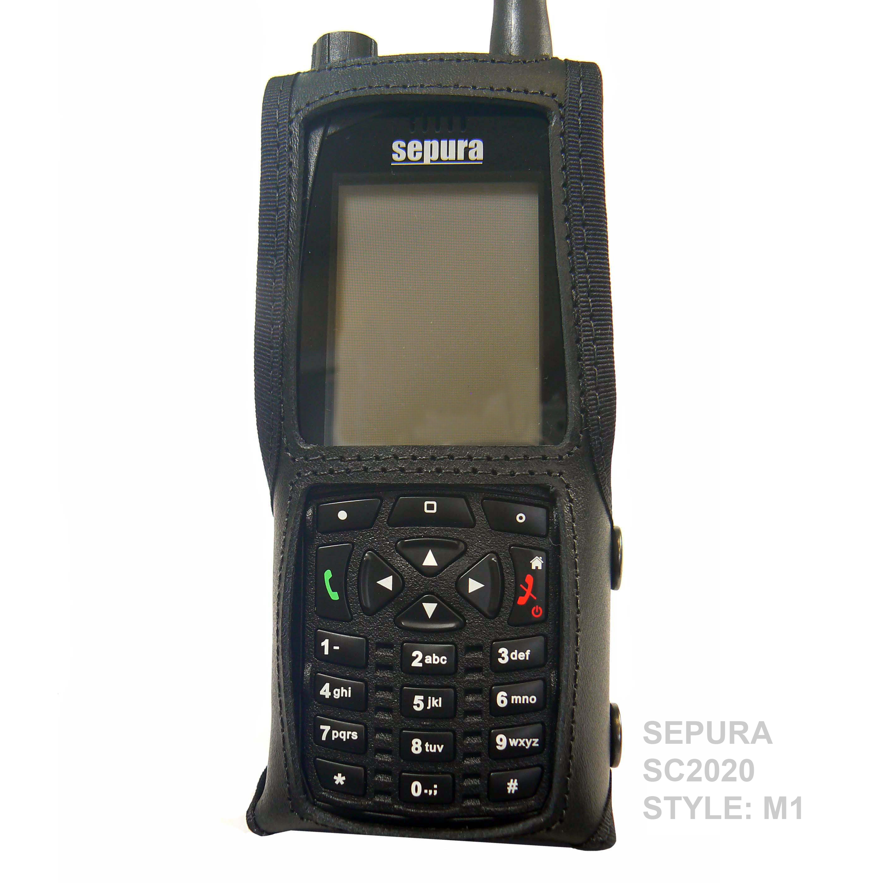Sepura SC2020 Tetra leather radio case with Click-On