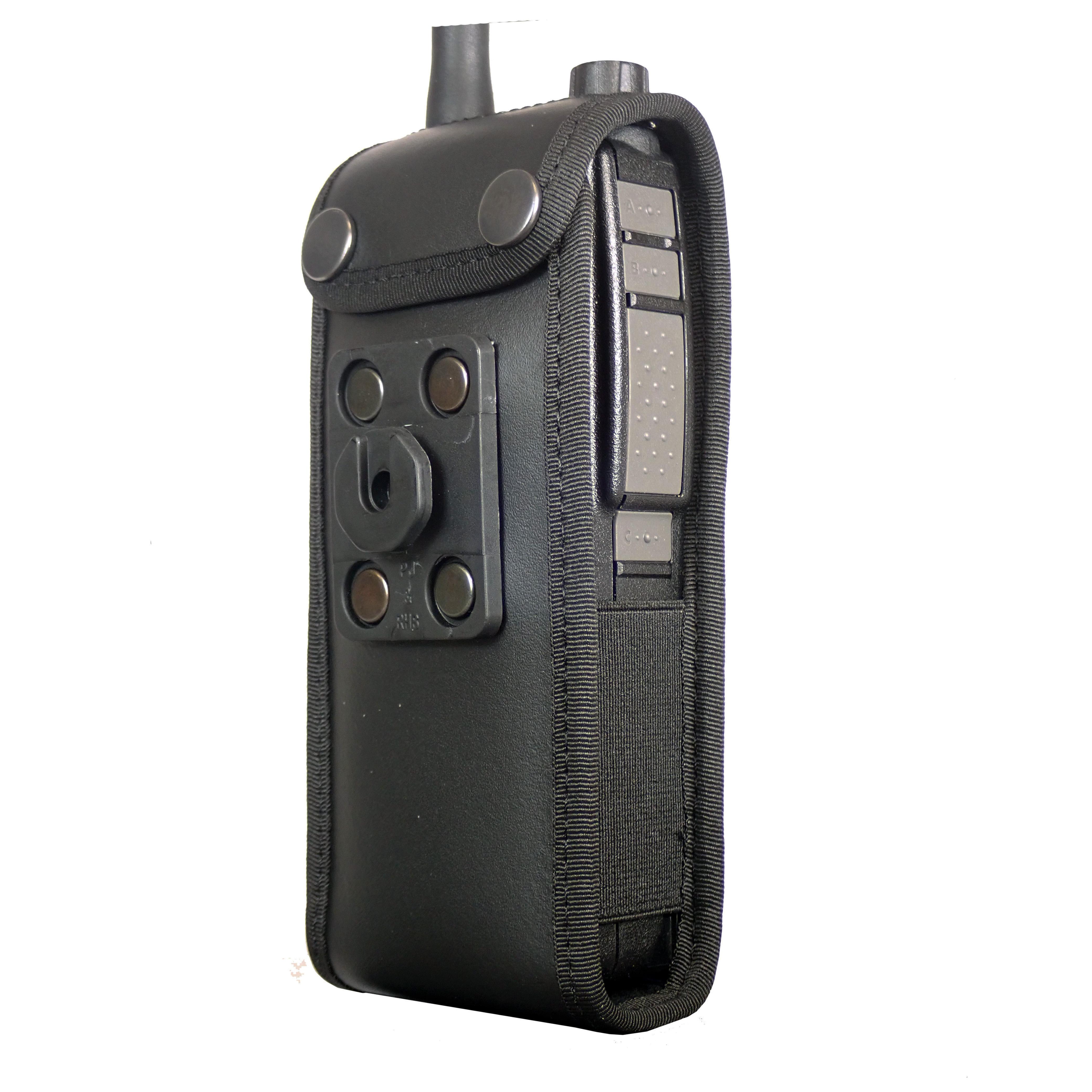 Sepura SC2020 Tetra leather radio case with Click-On