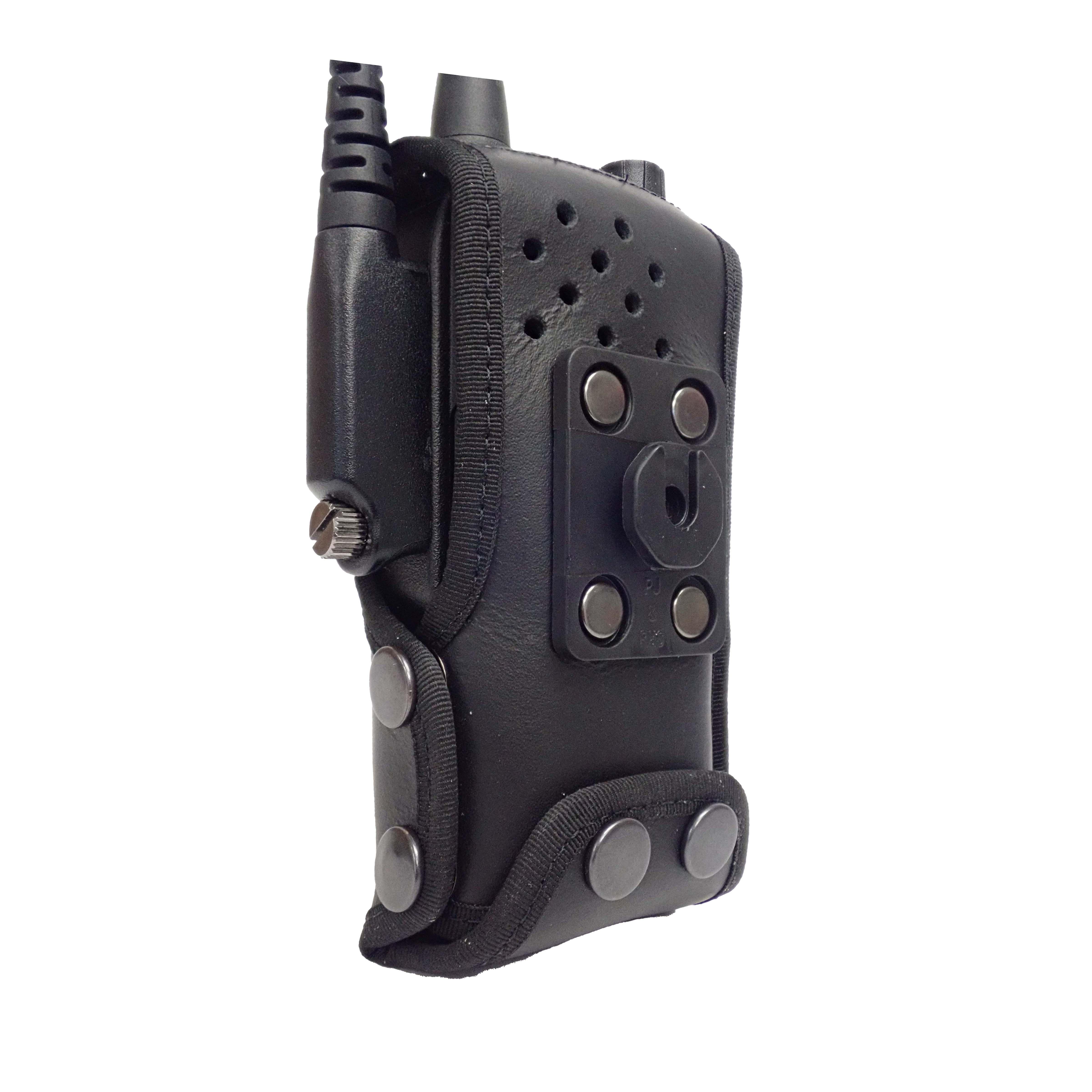 Sepura SC2120 Tetra leather radio case with Click-On