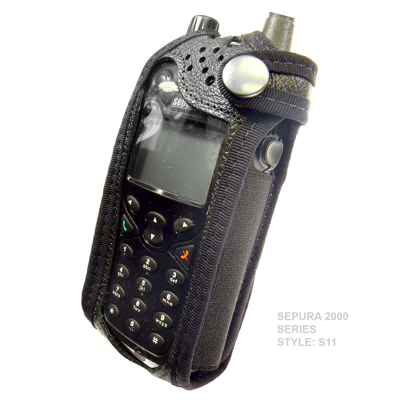 Sepura SRP2000 Tetra Radio Case Leather with Click-On