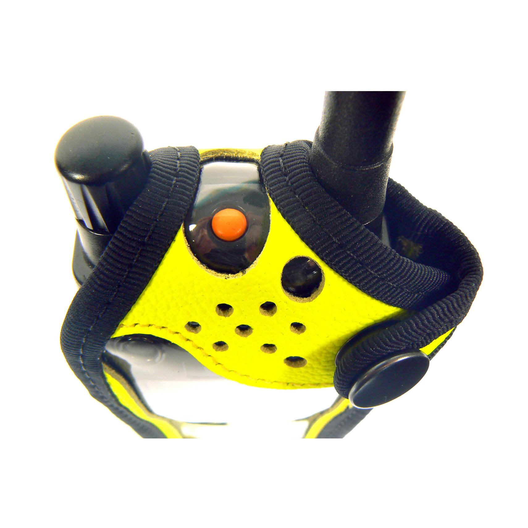 Sepura SRP9000 Tetra Radio Case Hi-Vis Yellow Leather with Click-On