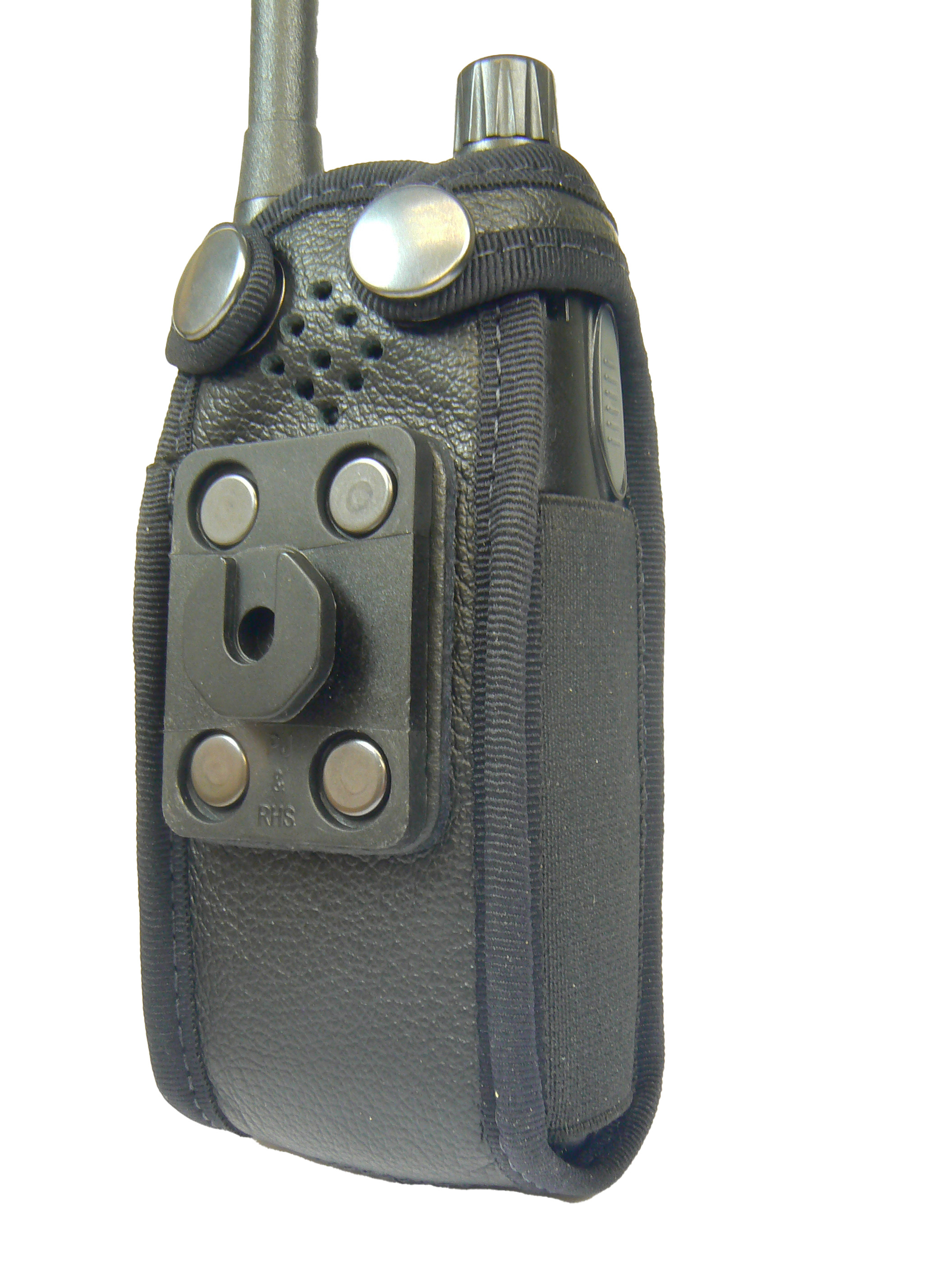 Sepura SRP2000 Tetra leather radio case with Click-On