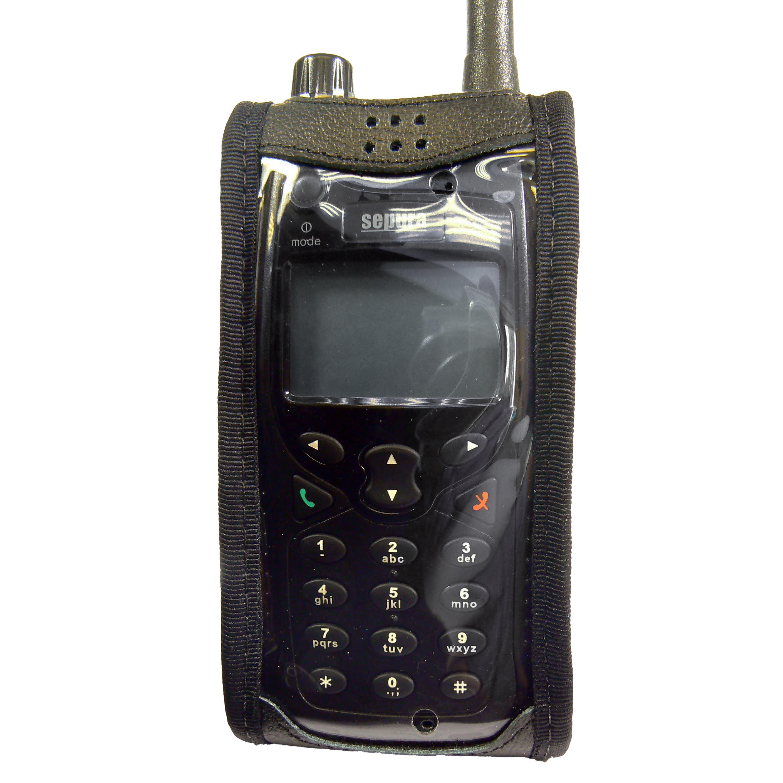 Sepura STP8000 leather radio case with Click-On