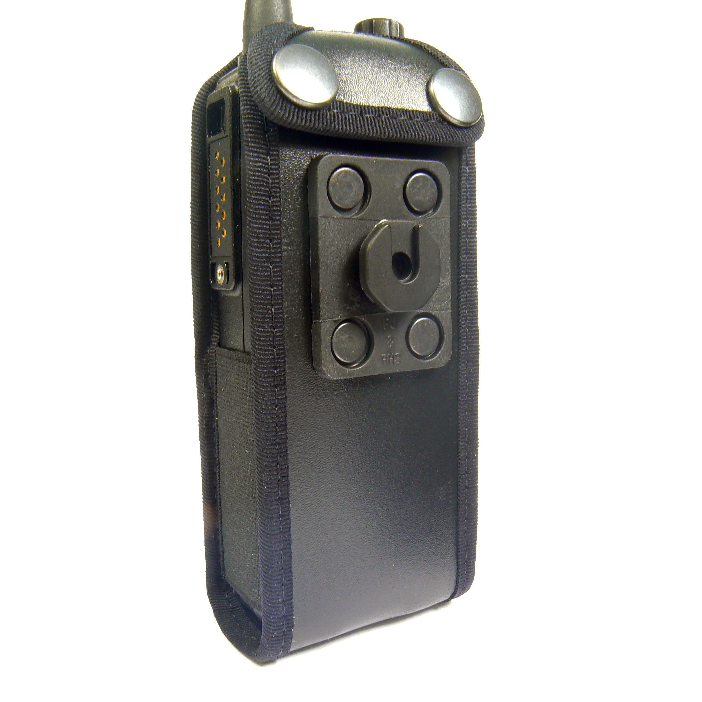 Tetra Sepura STP8000 leather radio case with Click-On