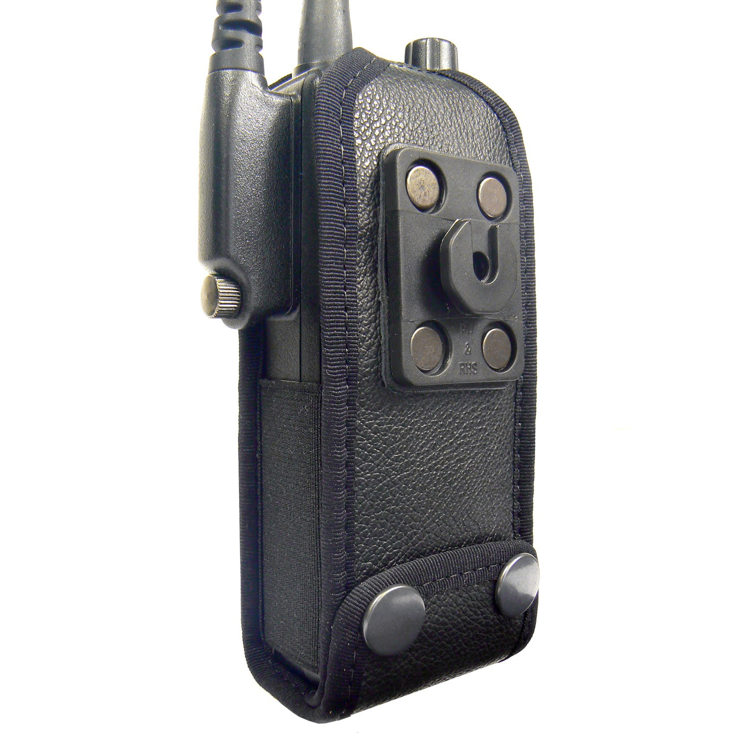 Sepura STP8000 Tetra leather radio case with Click-On
