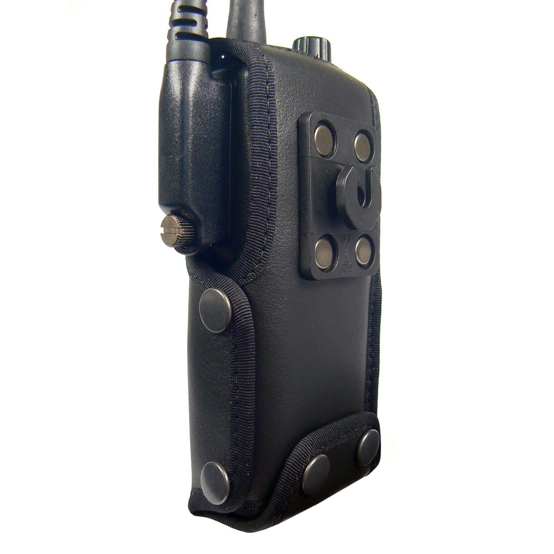 Tetra Sepura STP9000 leather radio case with Click-On