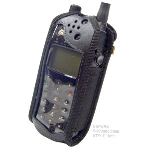 Sepura SRP3000 Tetra Radio Case leather with Click-On