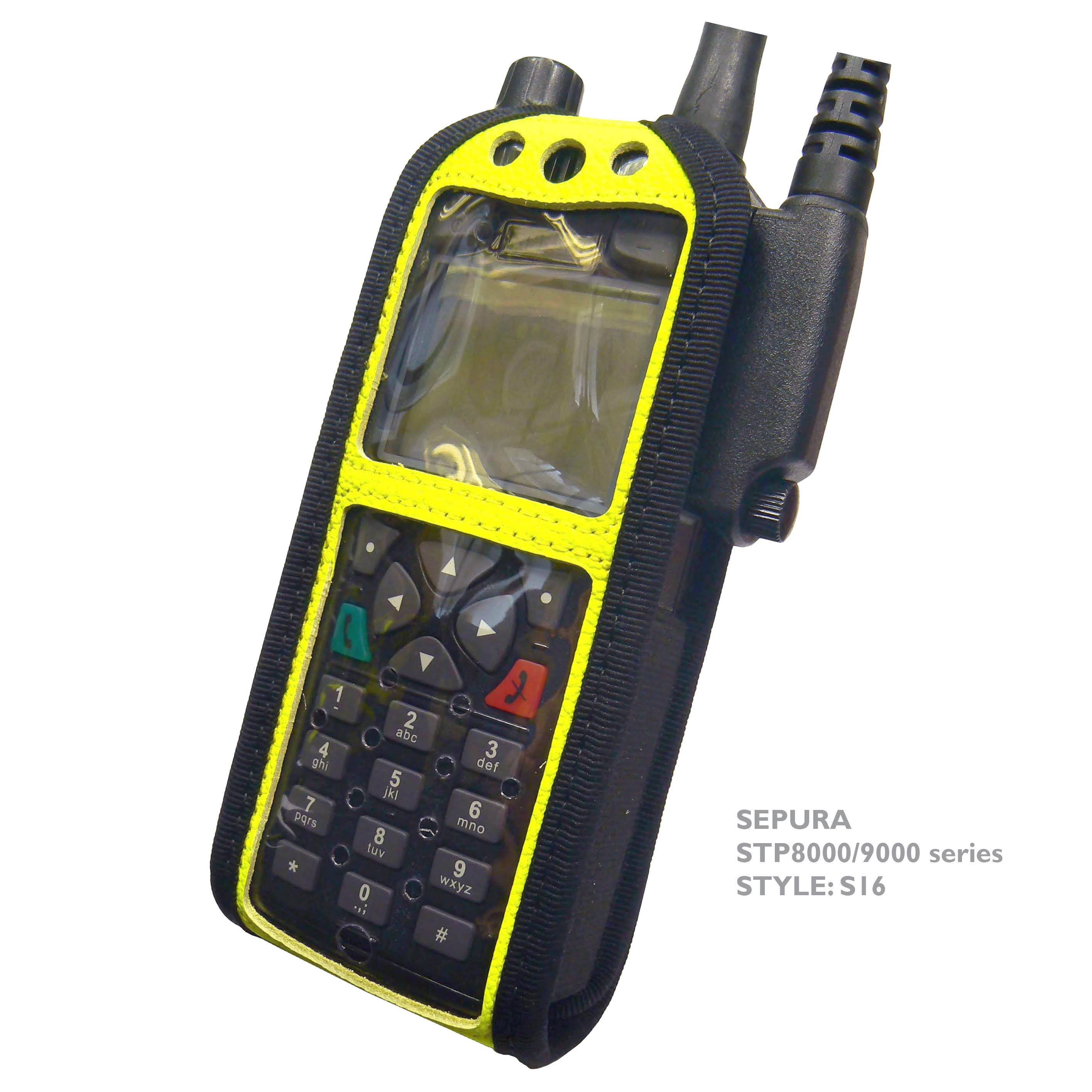 Sepura STP8000/9000 Radio Case Hi-Vis Yellow with Click-On