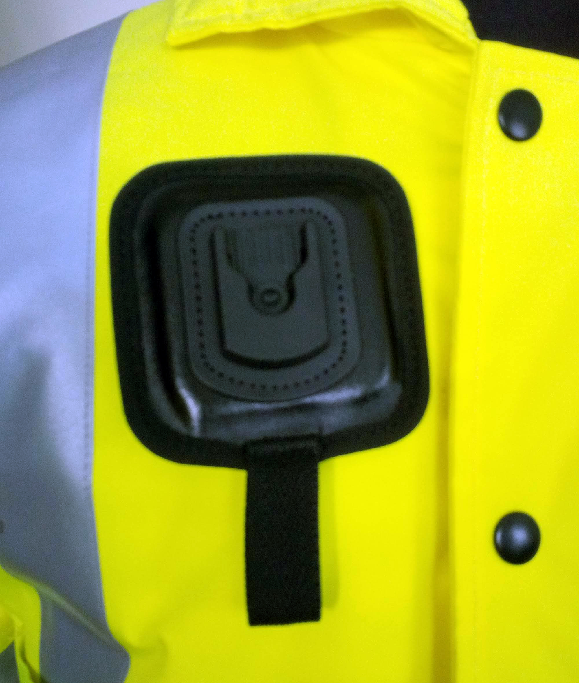 Magnetic Click-On dock on jacket