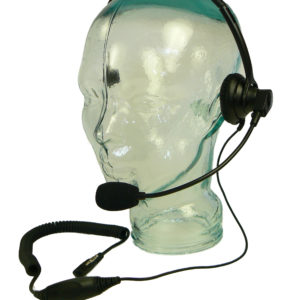 Single muff headset microphone and earpiece