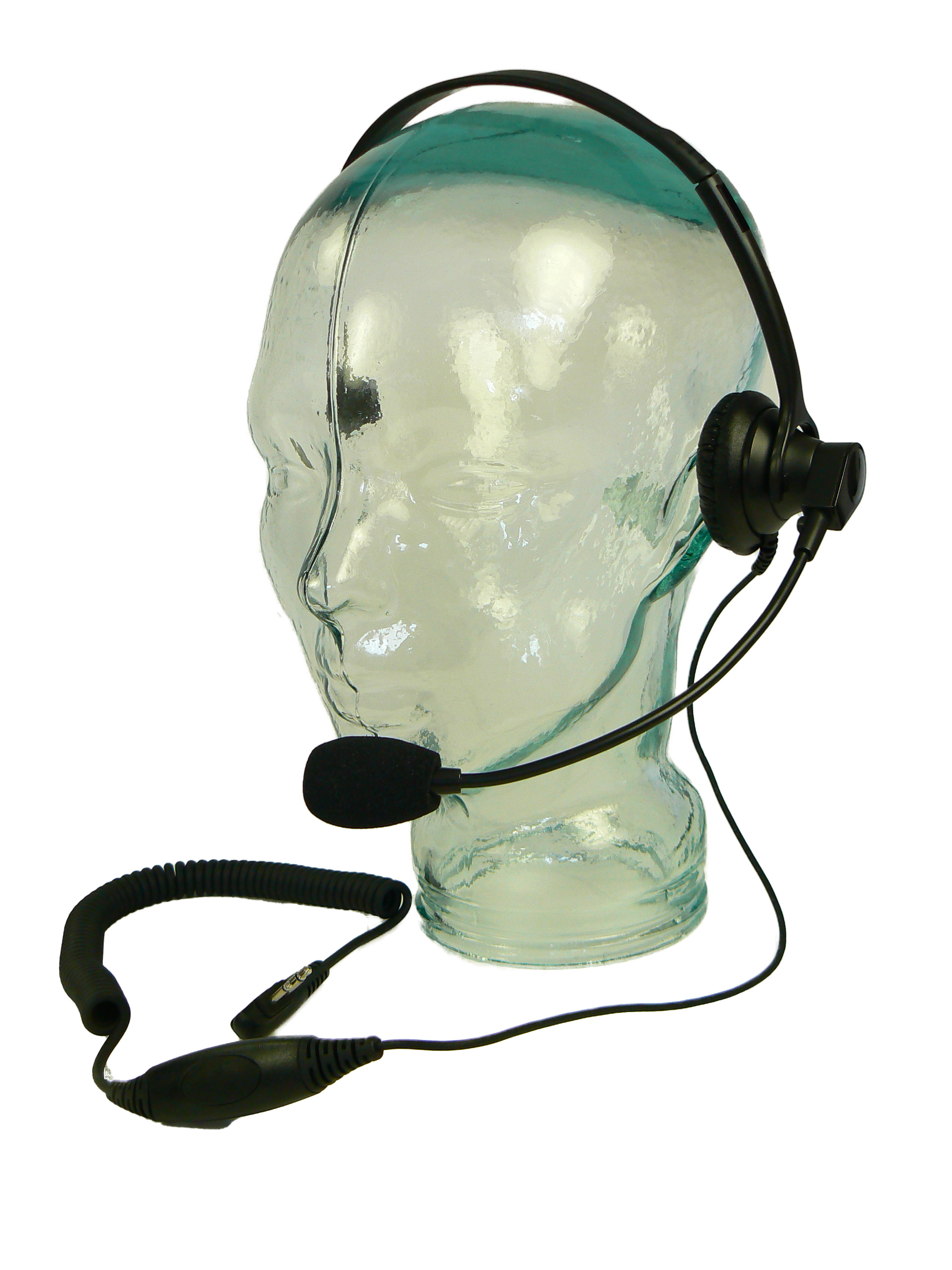 Single muff headset with microphone for Radio
