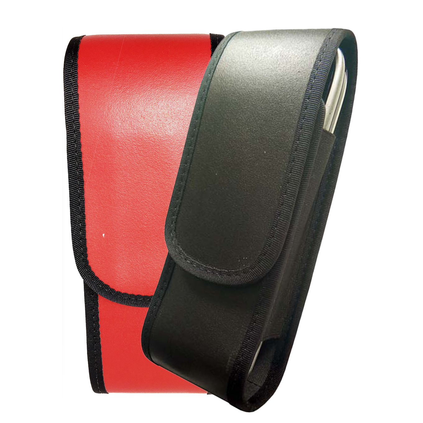 Leather radio case for DECT Phone Black & Red